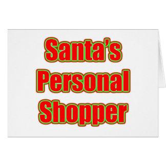 Santa's Personal Shopper Note Card