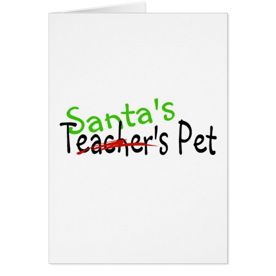 Santas Pet Card
