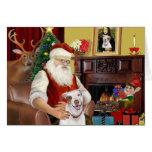 Santa's Pit Bull #2 Greeting Cards