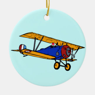Santa's Plane Christmas Ornament