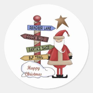 Santa's Pole Stickers