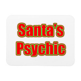 Santa's Psychic Rectangular Photo Magnet