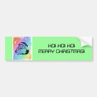 Santa's Rainbow Car Bumper Sticker
