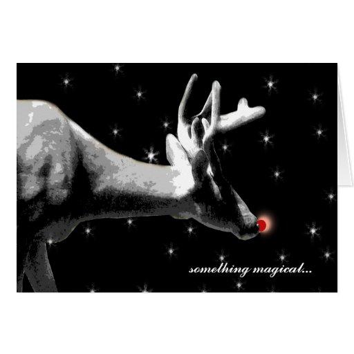 Santa's Reindeer/ Christmas Card
