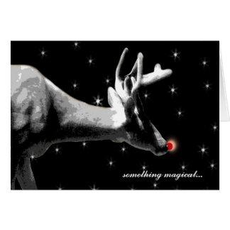 Santa's Reindeer/ Christmas Greeting Card