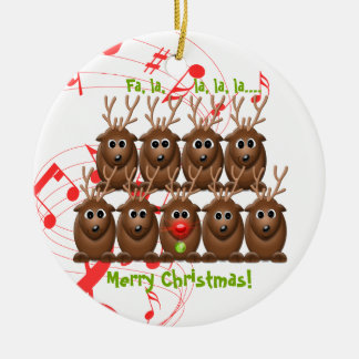 Santa's Reindeer Christmas Ornament