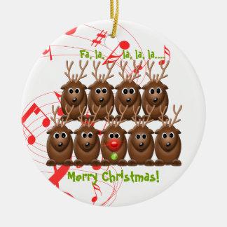 Santa's Reindeer Christmas Ornament
