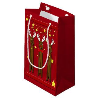 Santa's Reindeer Christmas Sml GB Small Gift Bag