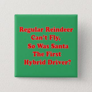 santa's reindeer hybrid pun 15 cm square badge