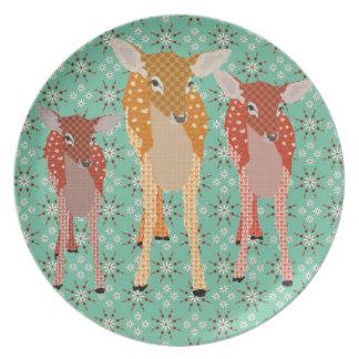 Santa's Reindeer Plate