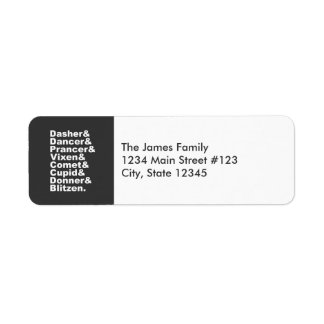 Santa's Reindeer Return Address Label
