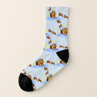 Santa's Reindeer Snowy Christmas Socks! 1