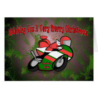 Santa's Ride Cad Greeting Card