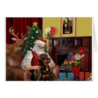 Santa's Rottweiler Card