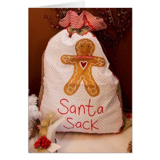 Santa's Sack Country Style Christmas Card