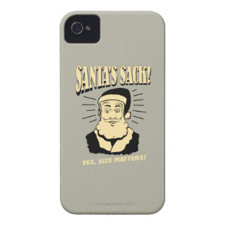 Santa's Sack: Yes, Size Matters iPhone 4 Case-Mate Case