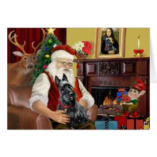 Santa's Scottish Terrier Card