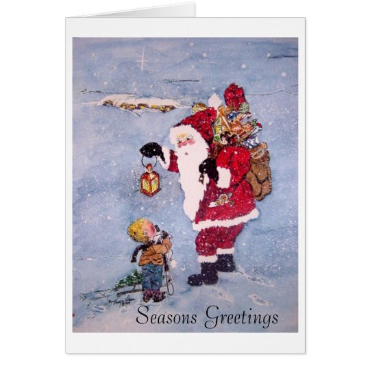 Santa's Secret-AB copy, Seasons Greetings Card
