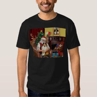 Santa's Sheltie (sw) Tshirt