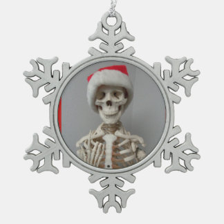SANTA'S SKELETON CUSTOMIZABLE CHRISTMAS ORNAMENT