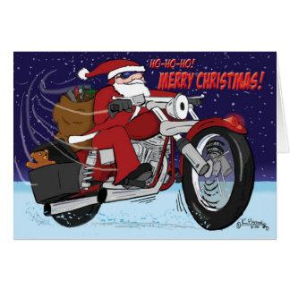 Santa's Sled Christmas Card