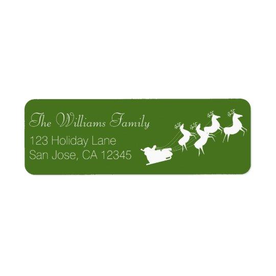 Santa's Sleigh Address Label