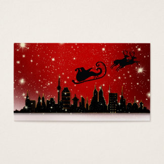 Santa's Sleigh Business Card