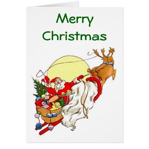 Santa's Sleigh Christmas Card