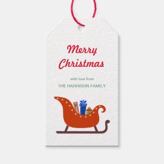 Santa's Sleigh Christmas Gift Tag