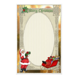Santa's Sleigh Custom Stationery