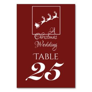 Santa's Sleigh  Holiday Table Card