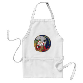 Santa's Sleigh in a Round Illustration Tees Gifts Apron