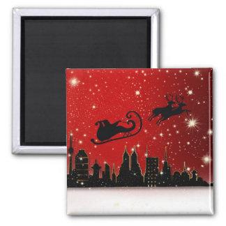 Santa's Sleigh Refrigerator Magnets
