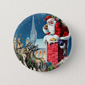 Santa's Sleigh Ride 6 Cm Round Badge