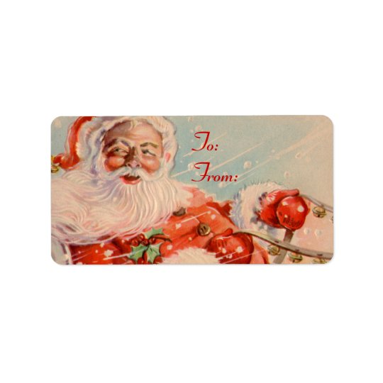 Santas Sleigh Ride Gift Tag Stickers