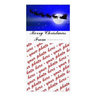 Santa's Sleigh Ride Photo Frame Personalised Photo Card
