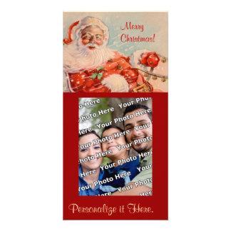 Santas Sleigh Ride Photocard Card