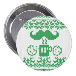Santa's Stache Over Green Midnight Snack Badges