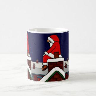 Santas Tea Break Basic White Mug