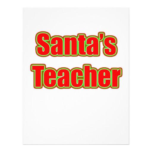 Santa's Teacher Flyer Design