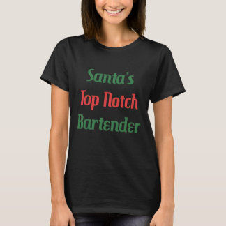 Santa's Top Notch Bartender Mixologist T-Shirt