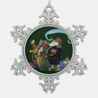 Santa's Toy Bag Snowflake Ornament