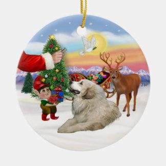 Santas Treat - Great Pyrenees Christmas Ornament