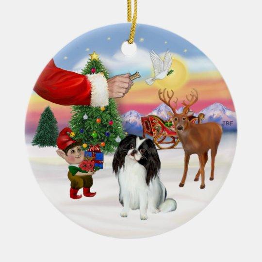 Santas Treat - Japanese Chin Christmas Ornament