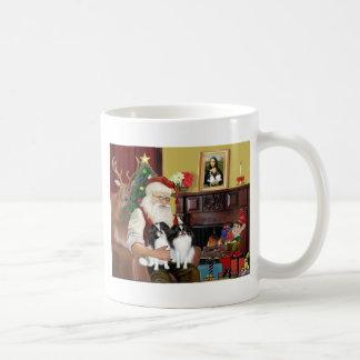 Santa's Two Japanese Chins Mug