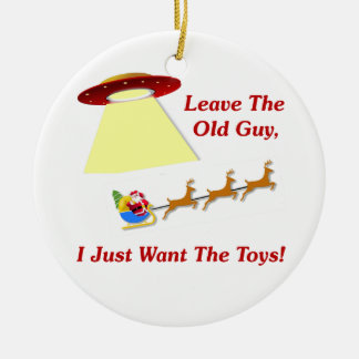 Santa's UFO Encounter Christmas Ornament