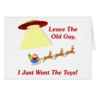 Santa's UFO Encounter Note Card
