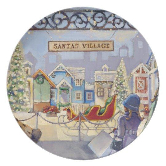 Santa's Village Plate