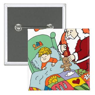 Santa's Visit II 15 Cm Square Badge