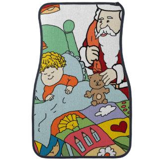 Santa's Visit II Floor Mat